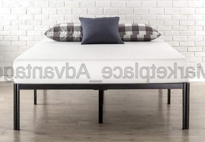 Queen Bed Frame 16 inch Tall Round Edge Steel Slat Support H