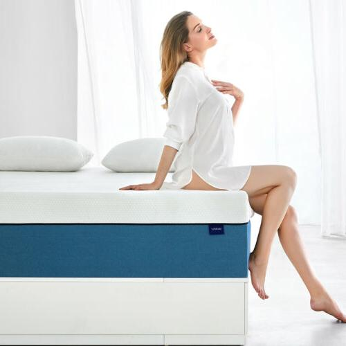 Molblly 6 Inch Memory Foam Mattress with CerPUR-US Certified