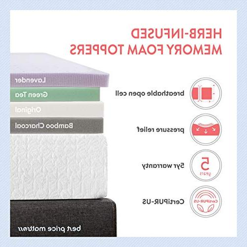 Best Queen Mattress - Inch Memory Foam Topper Cooling Mattress Size