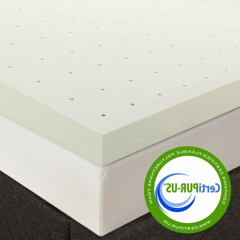 """Best Price Mattress 2.5"""" Memory Foam Topper with with Certipur-US C"""