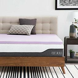 LUCID Ventilated Design 2 Inch Lavender Infused Memory Foam