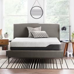 LUCID 12 Inch Bamboo Charcoal Memory Foam Hybrid Mattress -