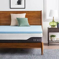 LUCID 2 Mattress Toppers Inch Gel Infused Memory Foam Queen