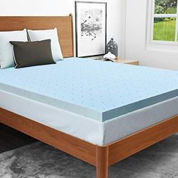 RUUF Mattress Topper, Gel-Infused Memory Foam Mattress Toppe