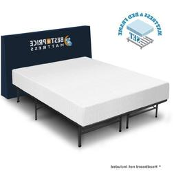 Best Price Mattress 10-Inch Memory Foam Mattress and Bed Fra