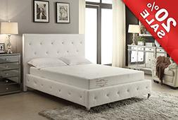 8-Inch High-Density Memory Foam Mattress  Size with Aloe Ver