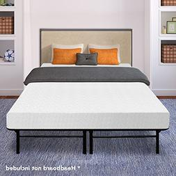 memory foam steel bed frame