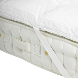NEW 100% MEMORY FOAM MATTRESS TOPPERS WITH REMOVABLE ELASTIC
