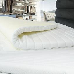 New Memory Foam Mattress Toppers With Quilted Elasticated Co