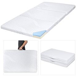 Best Choice Products Portable 3 Tri Folding Gel Memory Foam