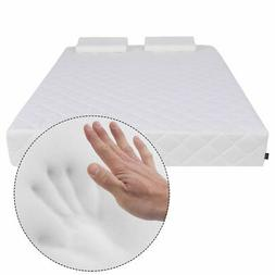 """Queen Size 10"""" Memory Foam Mattress Pad Bed Topper With 2 FR"""