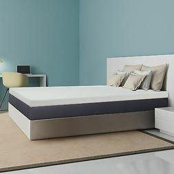 "Short Queen Size 4"" Inch Deluxe RV Memory Foam Mattress Bedd"