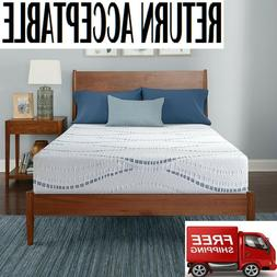 "Serta SleepToGo 10"" Gel Memory Foam Luxury Queen Mattress -"