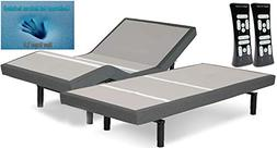 "Split King Leggett and Platt Scape with 8"" Latex Mattresses"