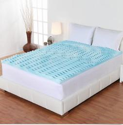 Mattress Topper Hypoallergenic Gel Memory Foam 2 Inch Orthop