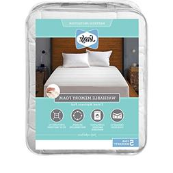 Sealy Washable Memory Foam Fitted Mattress Pad, King