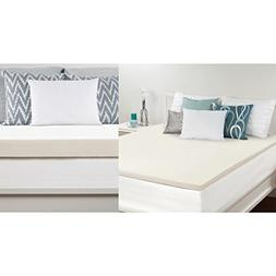 Sealy White 1.5-Inch Twin Memory Foam Mattress Topper