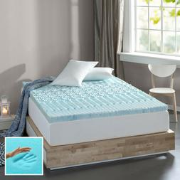 "Spa Sensations Zoned Fusion Gel Memory Foam 3"" Mattress Topp"